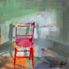 There is something about a painting of a chair.