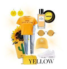 """casual yellow 🔅💛"" by rofaa187 ❤ liked on Polyvore featuring Rich & Royal, Miss Selfridge, NIKE, Chanel, Hakusan, adidas, WithChic, Michael Kors, Oscar de la Renta and modern"