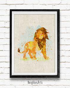 Roi Lion aquarelle Print, Disney Baby Boy pépinière Decor, sticker, décoration, idée cadeau, non encadré, achetez-en 2, obtenez-en 1 gratuit ! par NeighborArts sur Etsy https://www.etsy.com/fr/listing/238036480/roi-lion-aquarelle-print-disney-baby-boy