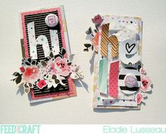 Never Cut the Scrap!: Hi & hello cards by Elodie (FYC Love Notes mini flair)