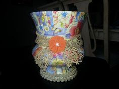 Decoupaged Summertime Vase