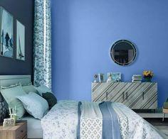 teals-blues-colour-shade-asian-paints-9637 Asian Paints Colour Shades, Asian Paints Colours, Paint Shades, Color Shades, Home Paint Colour, Wall Paint Colors, Bedroom Wall Designs, Bedroom Wall Colors, Wall Colour Texture