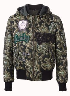 Dolce & Gabbana Emroidered Amore Baroque Family Jacquard Men's Bomber Jacket