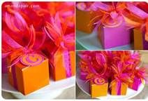 pink orange favors.. can be filled with variety treats