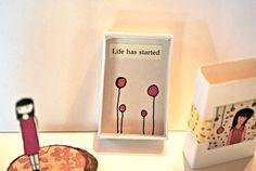 miniature matchbox message von mccarttfamily auf Etsy, $7.00