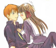 Fruits Basket, Kyo and Tohru