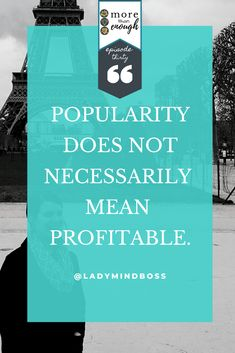 Popularity does not necessarily mean profitable. More Than Enough Podcast Episode Finding Passion, Finding Purpose In Life, Purpose Driven Life, Briggs Personality Test, Becoming A Life Coach, Passion Quotes, Meditation For Beginners, Law Of Attraction Tips, Helping Others