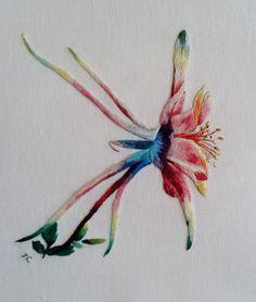 Peinture à l'aiguille réalisée par Yolande - Catherine Laurençon: