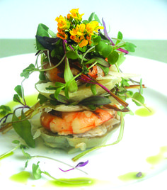 """Artichoke Shrimp Tower <3 """"The only real stumbling block is fear of failure. In cooking you've got to have a what-the-hell attitude."""" ~ Julia Child"""