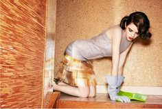 Perfect outfit for scrubbing floors!   by Photographer Ellen von Unwerth