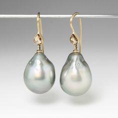 100% réel Naturel Perle boucles d'oreilles, perle d'eau douce ...