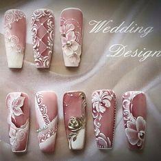 Wedding nails pink white or feminine prom?