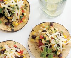 Zucchini and Corn Tacos.really good and a great way to use all that zucchini and tomatoes from the garden. Mexican Food Recipes, Vegetarian Recipes, Cooking Recipes, Healthy Recipes, Vegetarian Tacos, Corn Recipes, Recipies, Tostadas, Zucchini