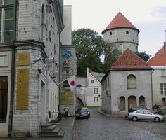 Tallinn Old Town - Bing Images 12th Century, Lithuania, Old Town, Bing Images, Medieval, Mansions, Street, House Styles, City