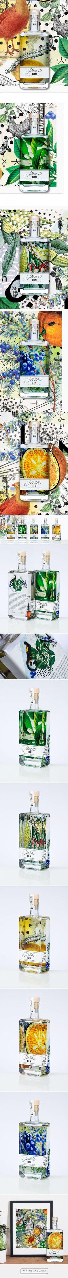 Janus Gin packaging design by LINEA - http://www.packagingoftheworld.com/2018/01/janus-gin.html