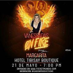 Entonces nos vamos a la isla a ponernos ON FIRE sin duda uno de los shows que AGOTA todas sus funciones lo volverá a hacer en #Margarita donde por primera vez se presentaran dejando el alma en tarima..... #Regrann