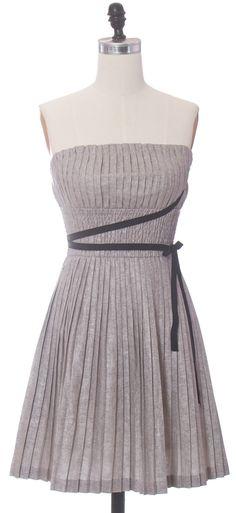 Silver Pleats Dress
