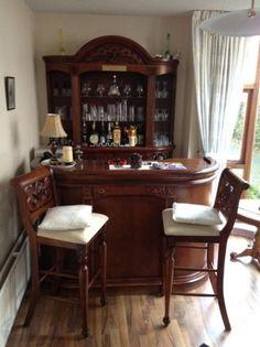 cozy home bar