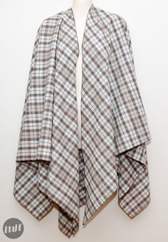 Blanket cape DIY maybe use heavy weight wool or oil cloth