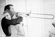 Paul Newman, Joanne Woodward, trombone