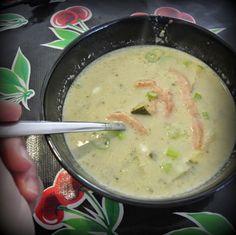 Rockin'Mum: Courgette-mosterdsoep met gerookte zalm   Zucchini-mustard soup with smoked salmon