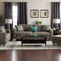 Midcentury lines with modern comfort, the Charlotte collection with Jerome's Dream Seating features Jerome's-gel over high-density foam and sinuous seat springs for superior comfort. Tufted back cushions give it eye catching appeal while the accent pillows in designer fabrics are filled feather a...