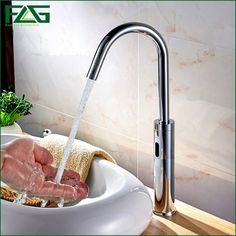 145.03$  Watch now - http://aliug6.worldwells.pw/go.php?t=32471036826 - FLG Sensor Operated Electronic Auto Lavatory Hand Washing Inducting Faucet Robinet Automatique Infrarouge Automatic Sensor Tap