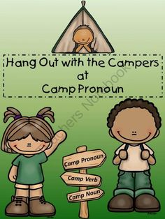 Hang Out with the Campers at Camp Pronoun! from Everyday Adventures on TeachersNotebook.com -  (12 pages)  - Fun camp-themed task cards to review and evaluate student knowledge of pronouns