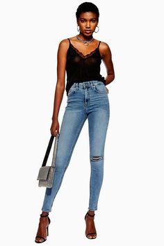 32d23d9b160 Womens Bleached Ripped Jamie Jeans - Bleach Denim