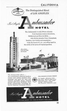 ambassador hotel map los angeles - Google Search