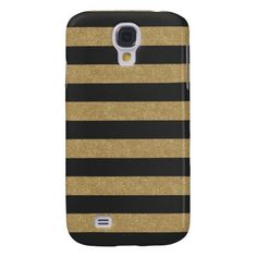 Black and Gold Stripes Samsung Galaxy S4 Case