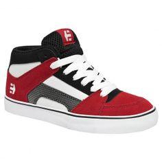 Etnies KIDS RVM Vulc red white black chaussures de skate montantes 65,00 € #etnies #etniesrvm #etnieskid #etnieskids #etniesshoes #etniesfootwear #skateshoes #skateshoe #skate #skateboard #skateboarding #streetshop #skateshop @PLAY Skateshop