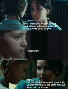 hunger games and mean girls. too funny