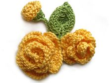 Flowers and Butterfly Knitting Patterns