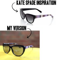 You can get the look of Kate Spade sunglasses for less than $5!  This designer-inspired DIY tutorial will get you looking on-trend in no time!