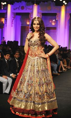 Bollywood actress Bipasha Basu walks the ramp during the Aamby Valley India Bridal Fashion Week in Mumbai.