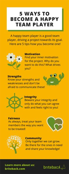 5 ways to become a great and happy teamplayer!
