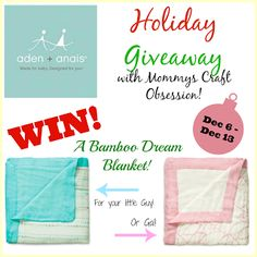 Adenhttp://www.mommyscraftobsession.com/2013/12/aden-anais-bamboo-dream-blankets-for.html & Anais giveaway!
