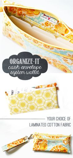 This laminated cotton cash envelope system wallet with six tabbed dividers, coin pouch, card slots, ID holder, and back pocket for receipts is a perfect cash organizer to use when following the Dave Ramsey baby steps. | A Time for Everything