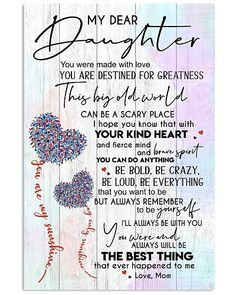 Mother Shirts, Hoodies, Posters, Mugs Message To Daughter, Mother Daughter Quotes, To My Daughter, Grandmother Quotes, Mommy Quotes, Family Quotes, Cute Quotes, Girl Quotes, My Children Quotes