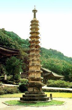 보현사 팔각13층석탑 Buddhism, Fountain, History, Outdoor Decor, Photos, Korea, Art, Pictures, Historia