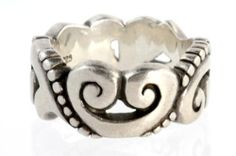 Brighton Sterling Silver Cigar Band Ring | eBay