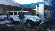 Ed Hickey and his new 2014 Jeep #Wrangler Rubicon Unlimited. Congrats, Ed!