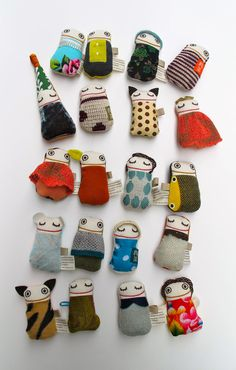 Dolls from fabric off-cuts by raplapla.