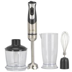 Electric 3 in 1 Hand Blender, Chopping Bowl & Whisk Attachment, Gripped Handheld Stick Blender with Speed Control Settings, 800 Watts (Black, Stick Blender) Thai Chicken Noodles, Shrimp Noodles, Slimming World Soup Recipes, Carrot And Lentil Soup, Slimming Eats, Hand Blender, Bowl Of Soup, Fiber Foods, Healthy Vegetables