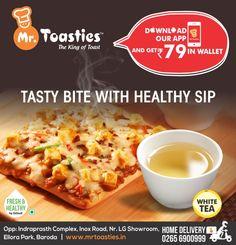 TASTY BITE WITH HEALTHY SIP ! #DownloadAppNow #MrToasties