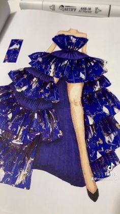Fashion Figure Drawing, Fashion Drawing Dresses, Fashion Illustration Dresses, Dress Design Drawing, Dress Design Sketches, Fashion Design Sketches, Fashion Design Books, Fashion Figures, Fashion Sewing