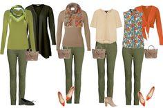 Capsule wardrobe for warm colouring