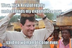 OK, this picture mad me laugh out loud. It is as funny as it is unfair to Kristof.