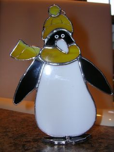 penguin stained glass ornaments - Google Search
